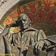 Hahnemann statue mosaic